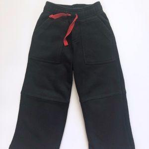 Boys Janie & Jack Black Fleece Pants 3T